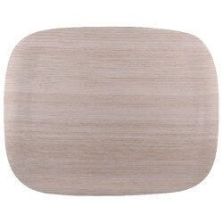 ROLTEX PLATEAU RECT.light wood LEGER 46X36 earth t