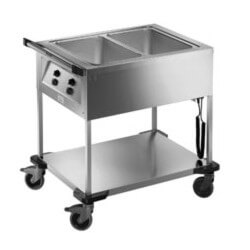 Chariot 2xGN1/1 Bain-Marie Ouvert BLANCO