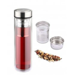 Bouteille 0.45L Infuseur Borosilicate WEISS