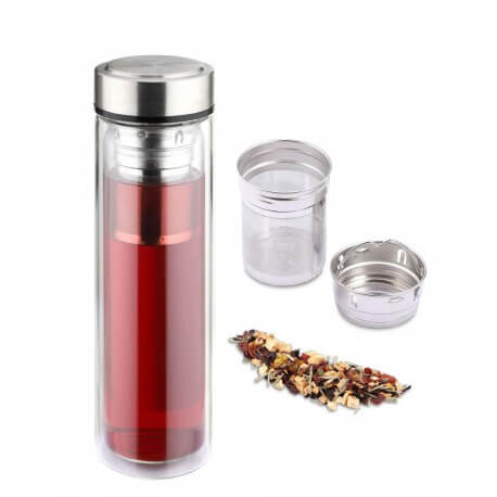 Bouteille 0.45L Infuseur Borosilicate WEISS WS12955