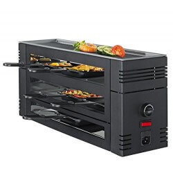Raclette/Pizza + Grill 6p 1100W SPRING