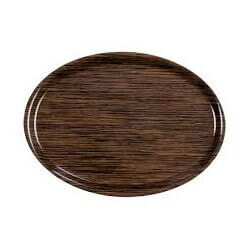 Plateau 28x20cm Oval Wenge ROLTEX 8070
