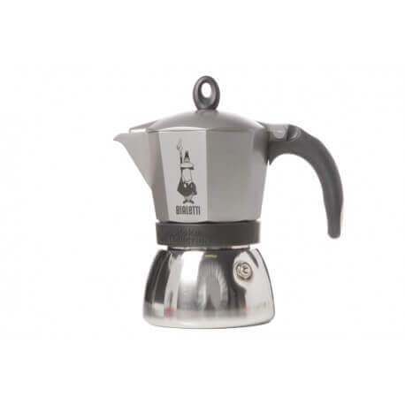 Cafetière moka 3 tasses inox/anthracite BIALETTI