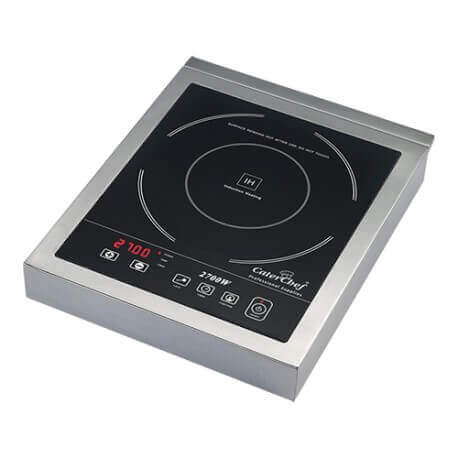 plaque induction professionnelle 2700w inox caterchef. Black Bedroom Furniture Sets. Home Design Ideas